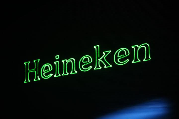 Laserprojectie Heineken