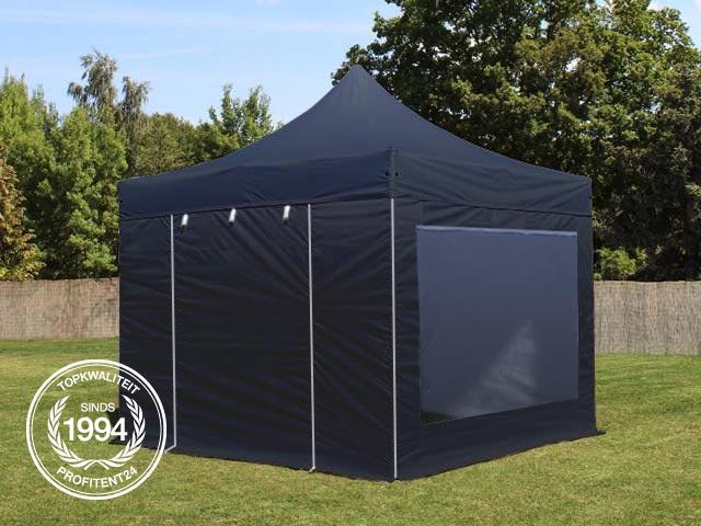 easy-up tent 3x3 m met zijwanden.