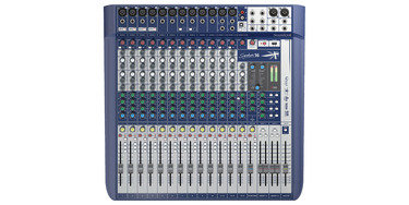 Soundcraft signature 16 incl dubbele cd speler.