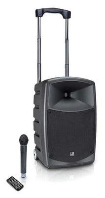 speaker op accu met draadloze microfoon