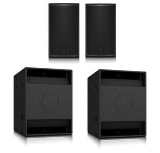 2 actieve speakers en 2 subs